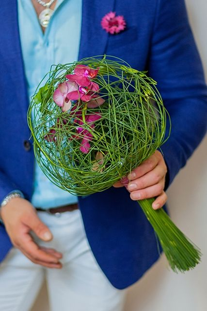 Букет невесты с орхидеями - Мадагаскар