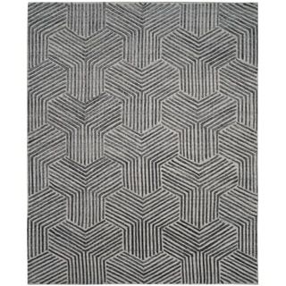 Safavieh Handmade Mirage Mid Century Light Grey/ Charcoal Wool/ Viscose Rug  (8u0027 X 10u0027) By Safavieh. Outlet StoreWool ...