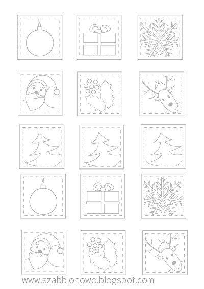 DIY Christmas Card Free Christmas Patterns, Free Christmas Templates, Free Christmas Printables on szabblonowo