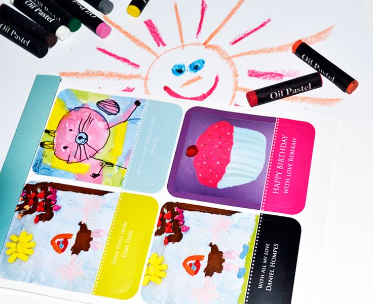 Macaroon's Personalised Art Sticker Booklet - upload your children's artwork and personalise the text. Show off their beautiful creations! www.macaroon.co
