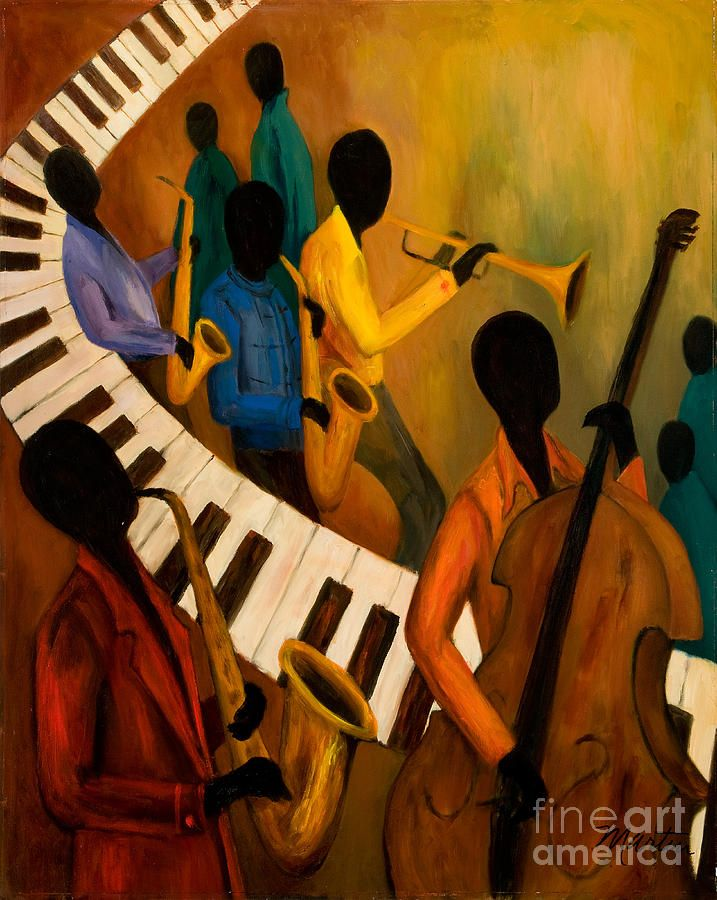 Jazz Quintet And Friends Painting
