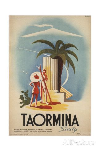 Taormina, Sicily Giclee Print - AllPosters.co.uk