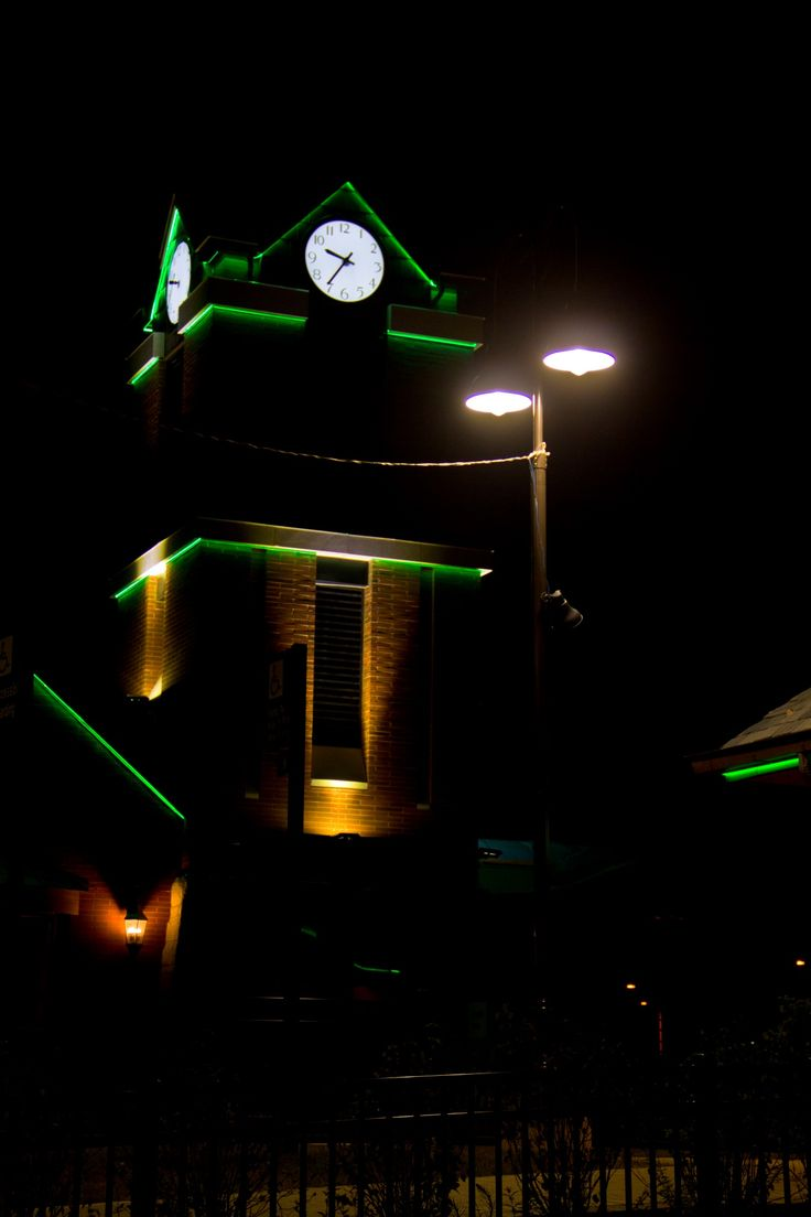 Trainstation clock tower.  #led #ledlighting #lighting #lightingideas #lightingdesign #light #design