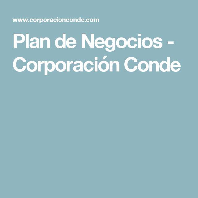 Plan de Negocios - Corporación Conde