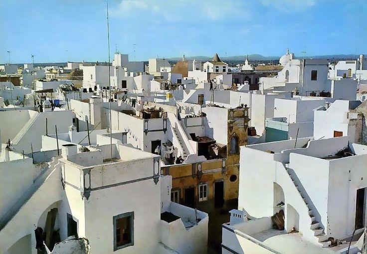 Olhao vila cubista. Algarve region