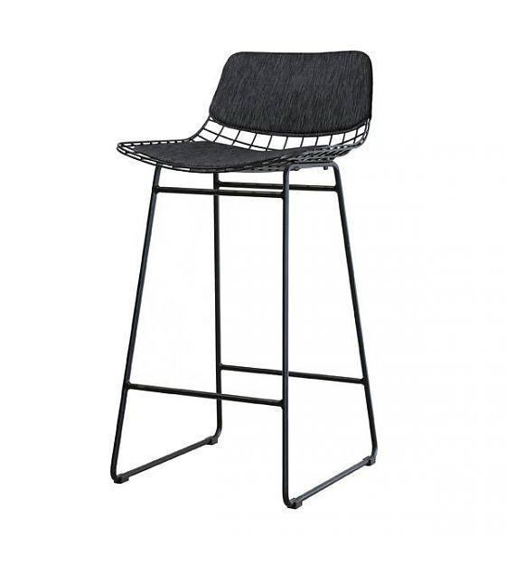 hk-living comfort kit zwart voor metalen draad barkruk - 29,95€ - lefliving