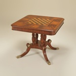 Maitland-Smith 3130-169 Game Table with Multi Leather Inlay - The Online Furniture Store $2262.85