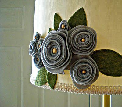 Felt flower lampshade..