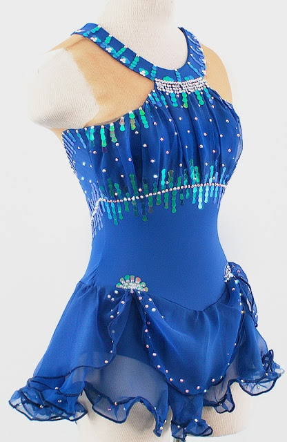 Emerald Royale Figure Skating Competition Dress