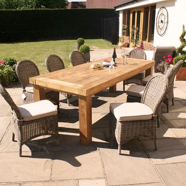 maze rattan winchester 8 seat teak rattan garden furniture set