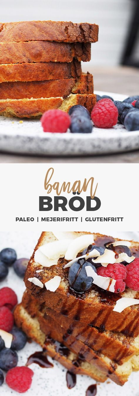 Recept: glutenfritt bananbröd. Paleo-vänligt
