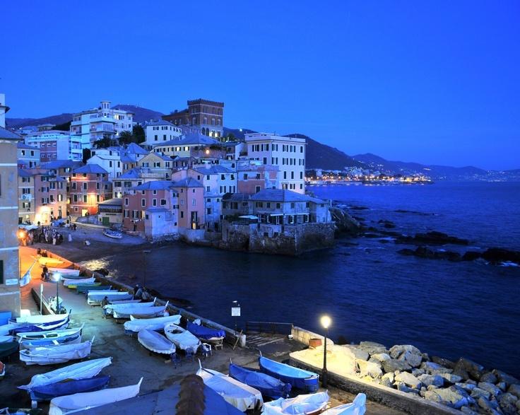 Boccadasse by night, Genova, Italy