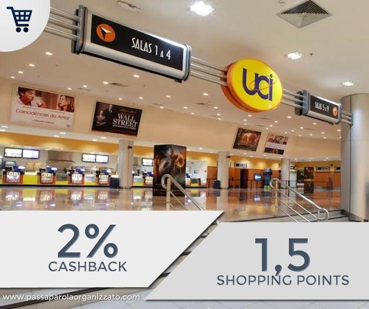 Ti piace guardare film? Vai al cinema?  2% di Cashback su tutti gli UCI Cinemas se acquisti il biglietto online (puoi anche farlo con lo smartphone 5 minuti prima di entrare in sala!).  Solo per gli aderenti alla nostra Shopping Community.