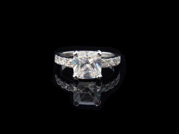 2.25 carat Princess Cushion Cut Anniversary by TigerGemstones, $89.99