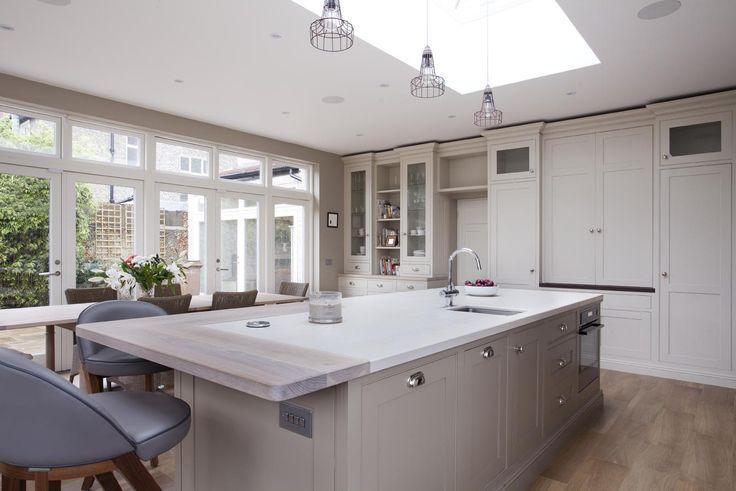 Kitchen island and dresser area.