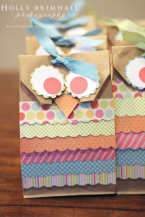 Owl Birthday Party Favor Bags DIY