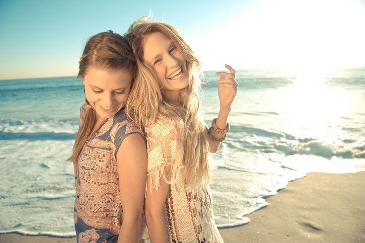 best friend | beach, best friends, girls , laughing, summer - inspiring picture on ...
