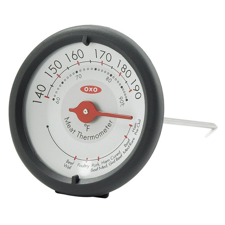 Oxo Analog Leave In Meat Thermometer, Grey