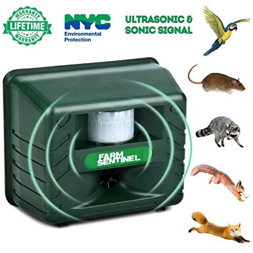 ZZC Ultrasonic Animal Repeller, Outdoor Animal Repellent