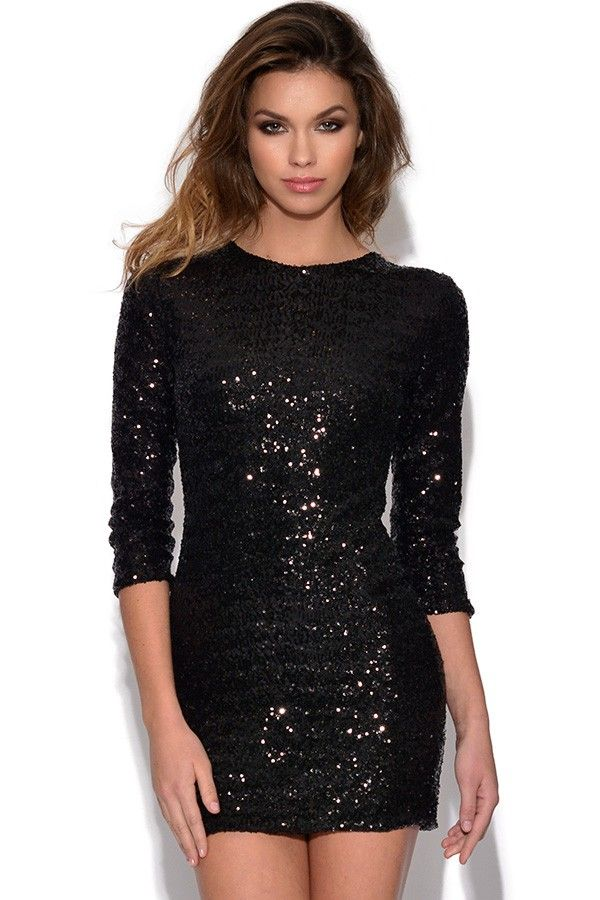 Looking for a show-stopping party piece? This beautiful Sequin Bodycon Dress is just what you need Saturated with vibrant colour and lavished with sequins all over, this dress is sure to make an impact at any event Bodycon dress featuring all over sequins with bodycon fit. Mid length sleeves and crew neckline complete the look. Concealed zip at back and lining S UK 8-10, M UK 10-12, L UK 10-12 Style Code: 4045