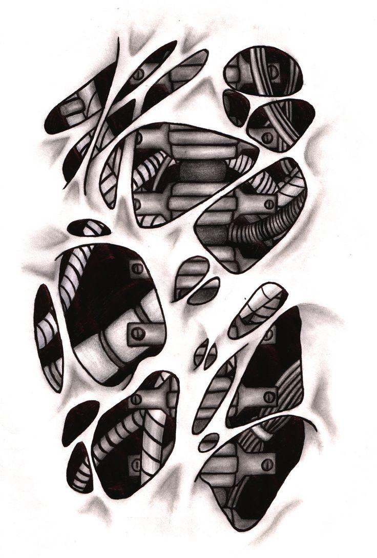 Biomechanical tattoos designs - Biomechanical Tattoo Design Recherche Google