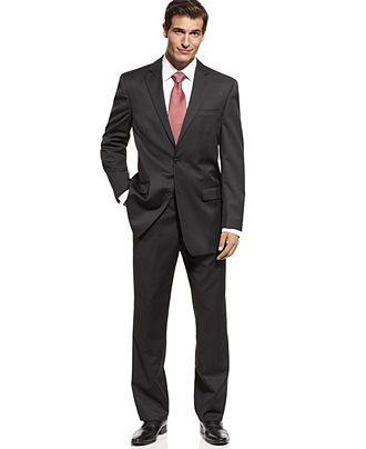 Michael by Michael Kors Suit, Black Solid - Mens Blazers & Sport Coats - Macy's