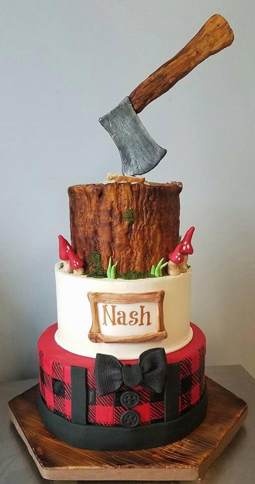 Woodsman Birthday Cake