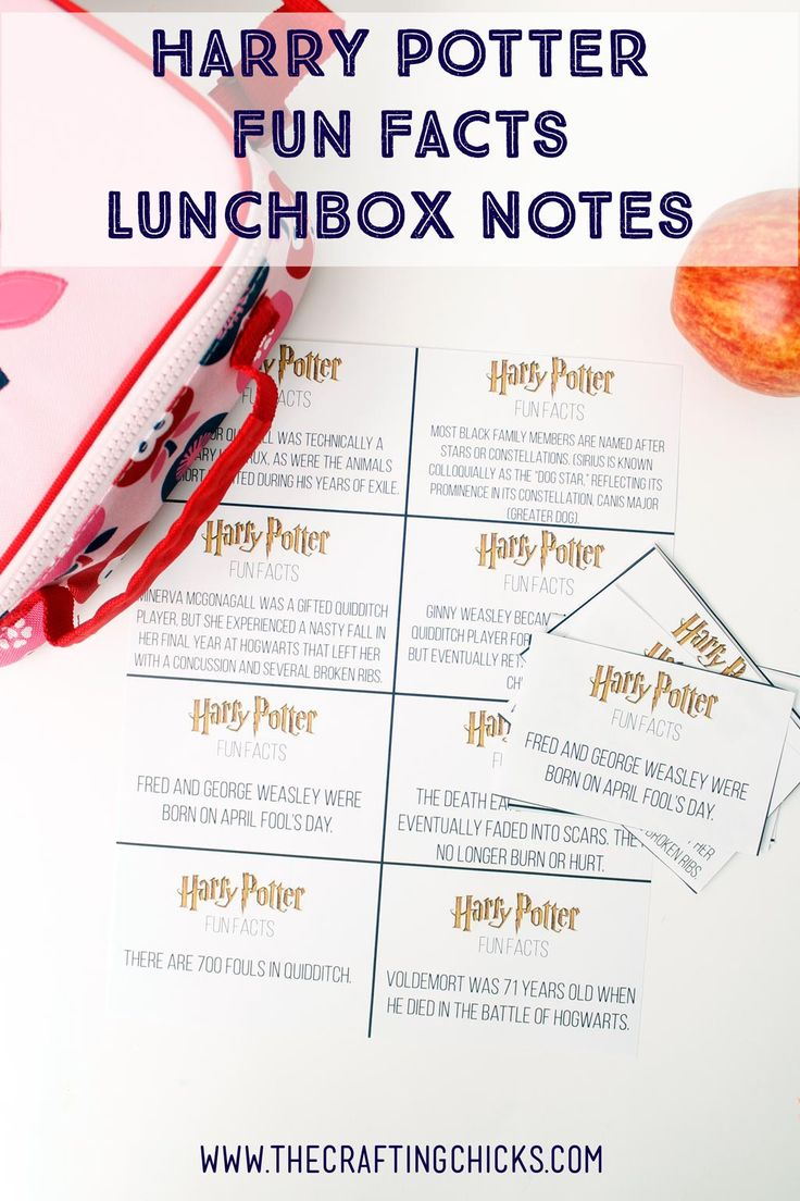 Make lunchtime fun for Harry Potter fans with these Harry Potter Fun Facts…