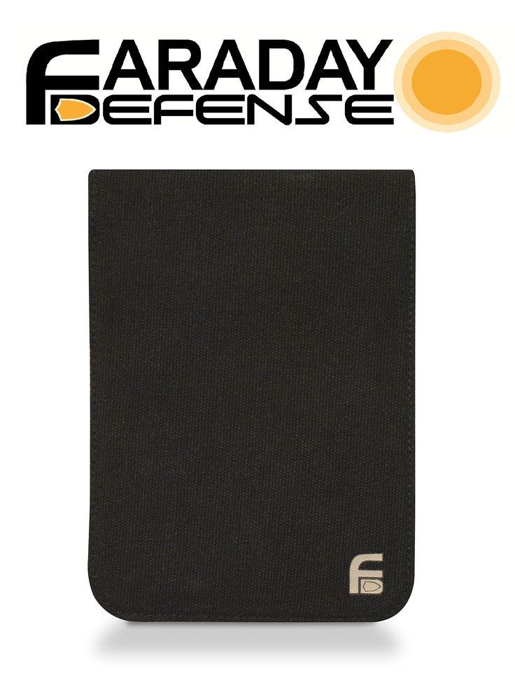 Faraday cage rfid emp privacy bag black canvas xlarge 45