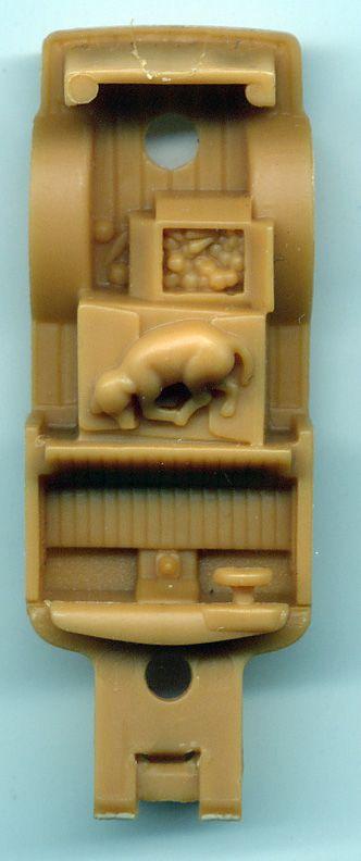 Hidden dog and vegetables inside Matchbox 1955 Ford F100 Panel Van