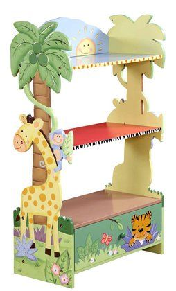 Teamson Children's Bookcase- Sunny Safari #DiaperscomNursery - Perfect for my baby's safari themed room