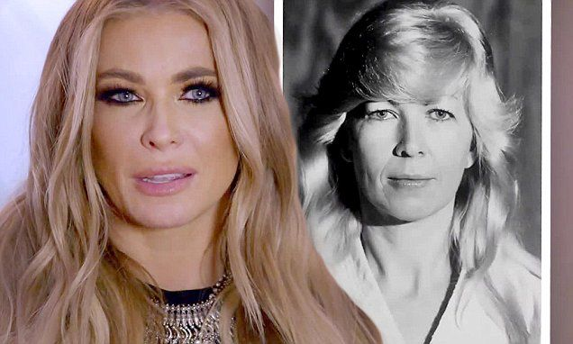 Carmen Electra cries as she talks about her mother's death