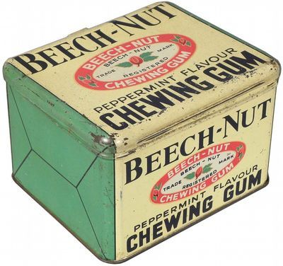 1930's Beech- Nut gum Vintage tin can
