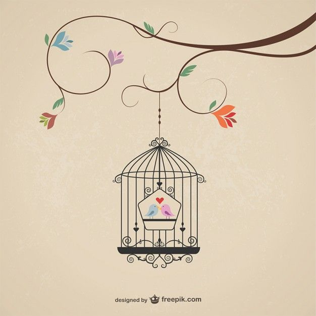 Vintage cage with birds - Freepik.com-Birds-pin-19