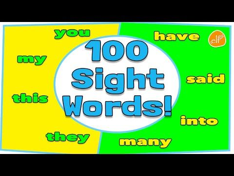 100 Sight Words Collection for Children - Dolch Top 100 Words by ELF Learning - YouTube