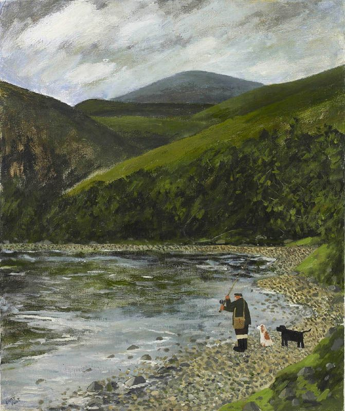 Gary Bunt   Down By The River - Down by the river There's a man with his dogs A rod and reel in his hand Time passes by as he casts out his fly In the hope there's a salmon to land.