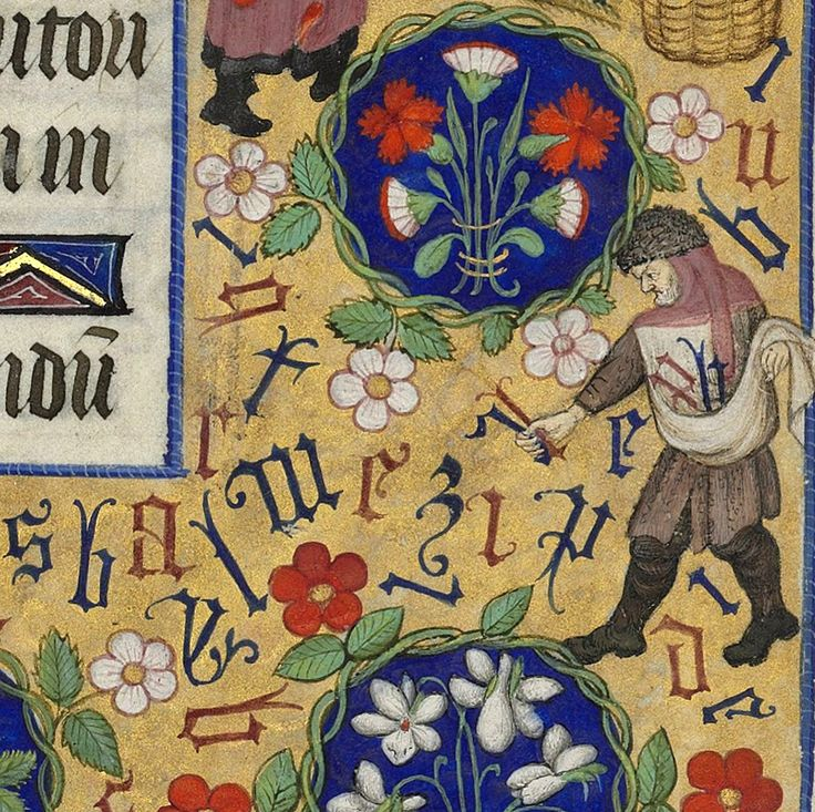 Sower of the Letters Hours of Marguerite d'Orleans, Rennes ca. 1430