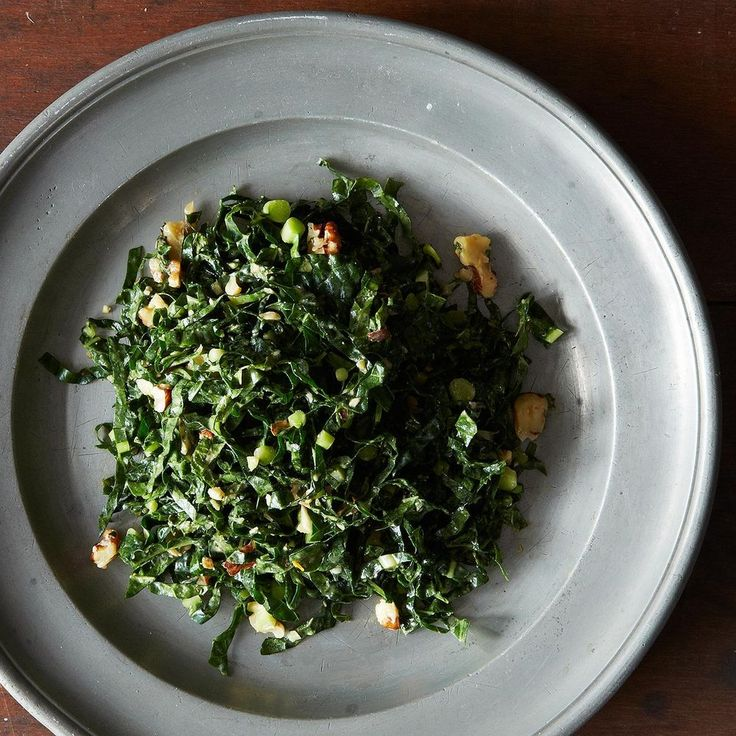 Lacinato Kale and Mint Salad with Spicy Peanut Dressing Recipe on Food52 recipe on Food52