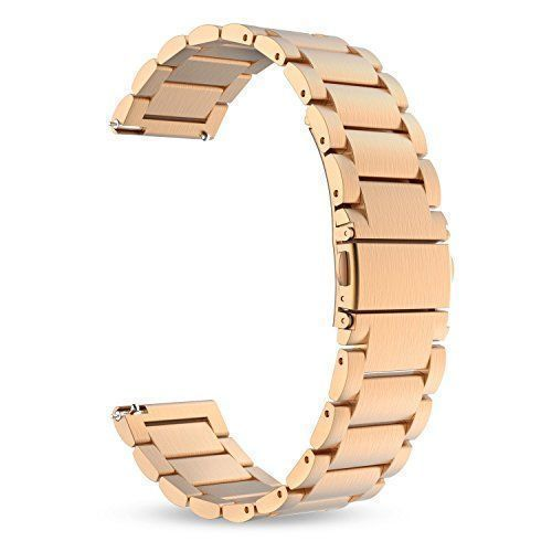 Samsung Gear S3 Watch Band Strap Bracelet Classic Stainless Steel 46mm Rose Gold