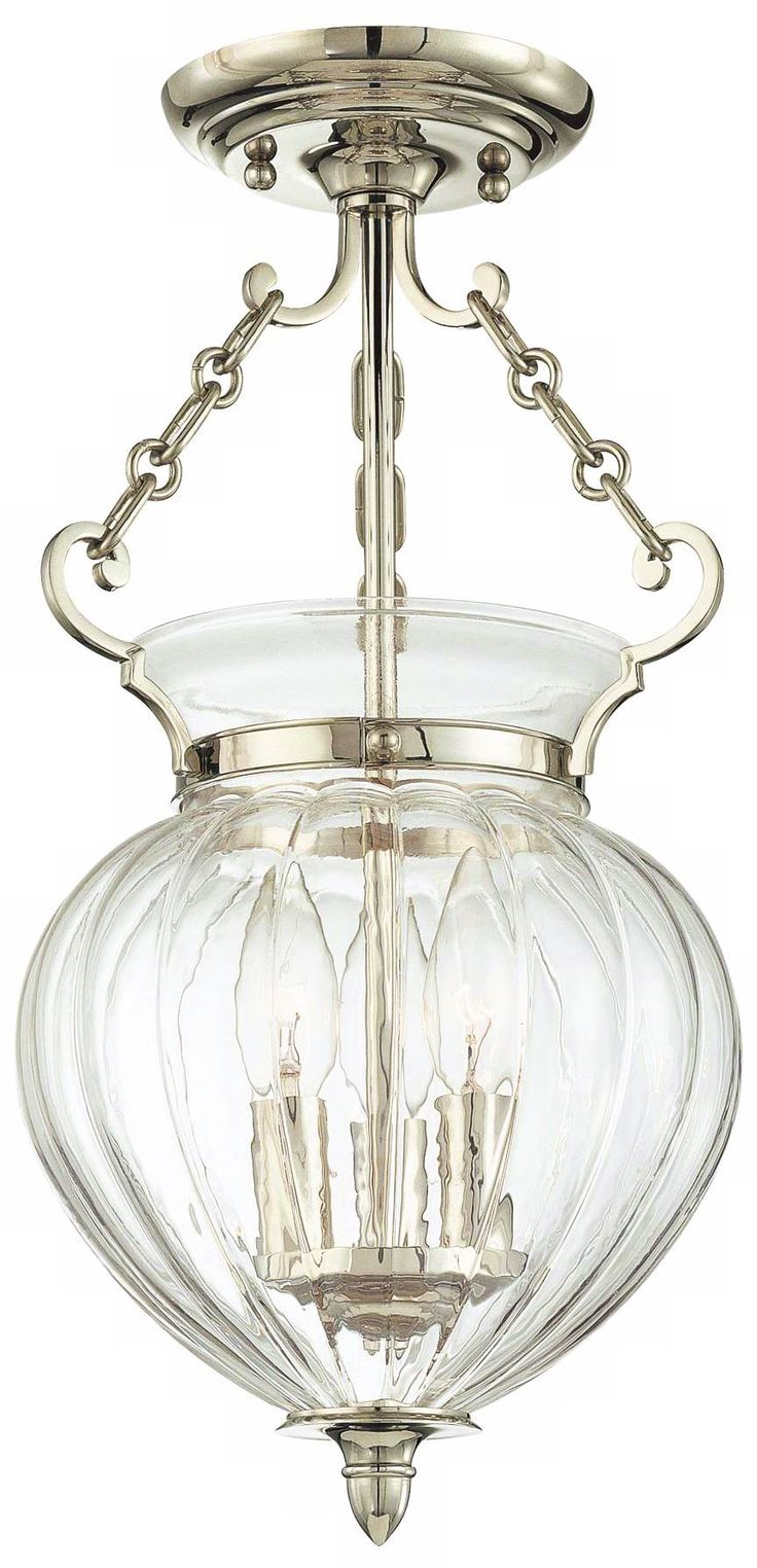Hudson Valley Gardner Polished Nickel Ceiling Fixture - #U4298 | Lamps Plus