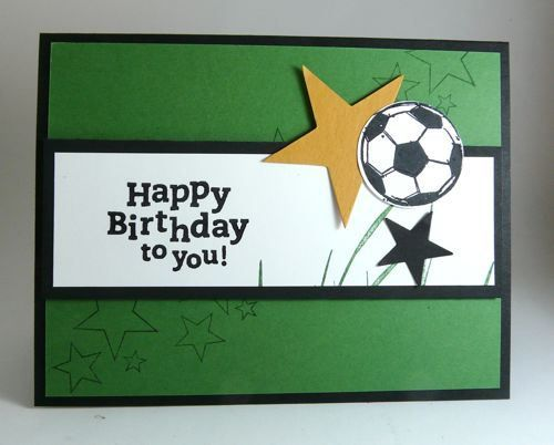Stamp Sets Just Soccer Amp Happy Birthday Cards Masculine