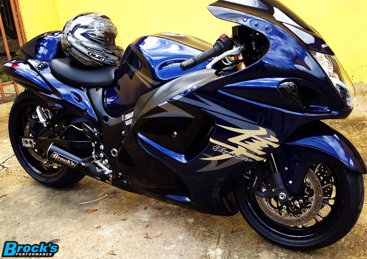 Marcus Leon Santos's Suzuki Hayabusa equipped with our Alien Head Exhaust System