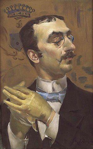 Giovanni Boldini: Portrait of a Dandy (formerly portrait of Toulouse-Lautrec) Boldini. Pastel on paper. 25x16 inches. 1880-1890.
