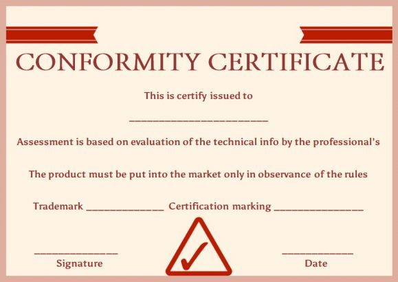 Best Certificate Of Conformance Images On