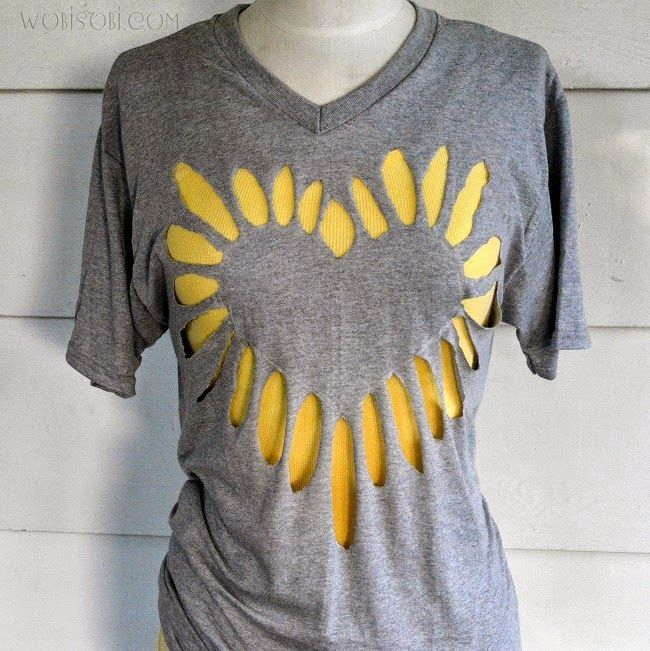 Как красиво порезать футболку (Diy)