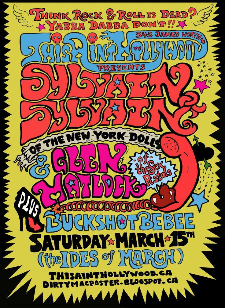 The Ides of March/GLEN MATLOCK /SYLVAIN SYLVAIN/BUCKSHOT BEBEE 3/15/2014 @thesaintweets #hamont   GunnerSmith.ca