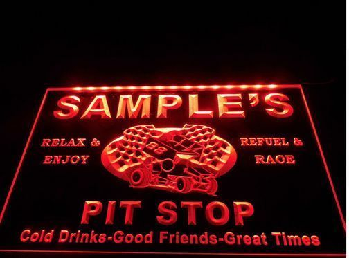 tm15 Name Personalized Custom 88 Pit Stop Man Cave Bar Neon Beer Sign