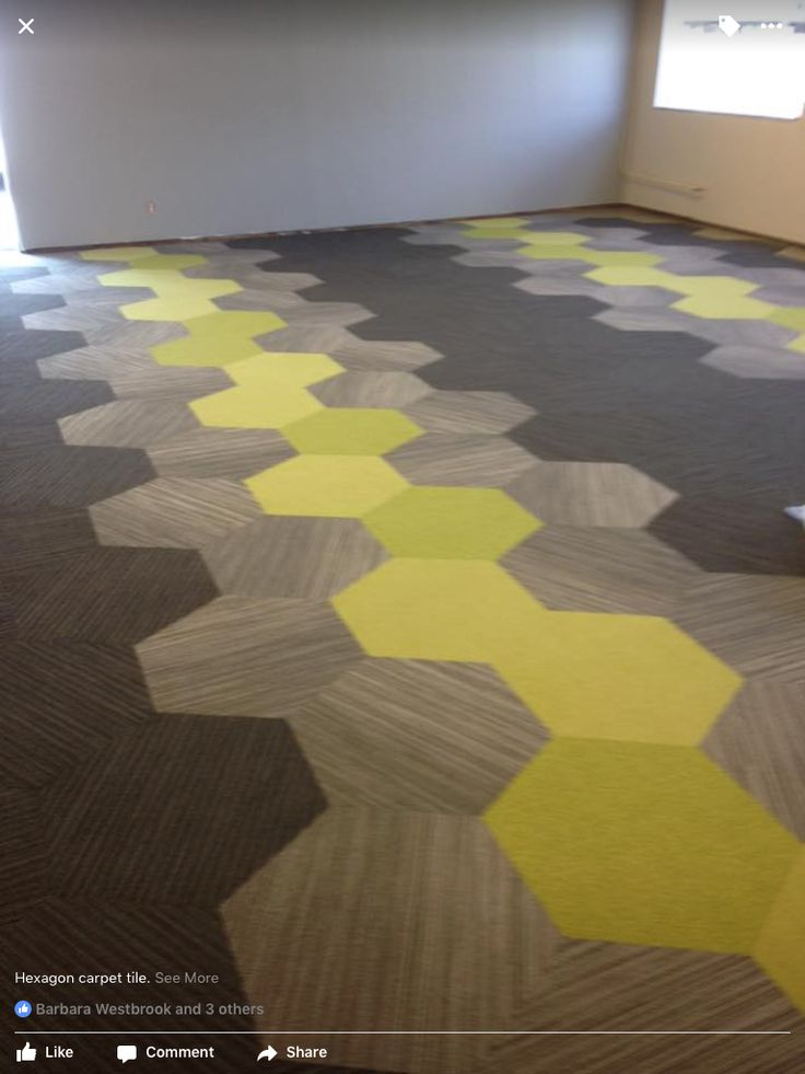 shaw hexagon carpet tile installed by allen lewis
