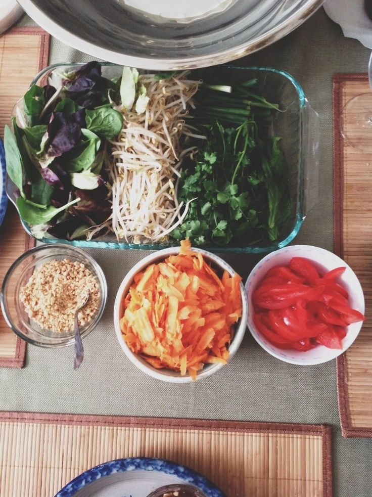Vietnamese Spring Rolls: easy and delicious. One of our favorite evening meals! Thanks @Tia Stockton   Fibre and Spice for sharing with us. :)