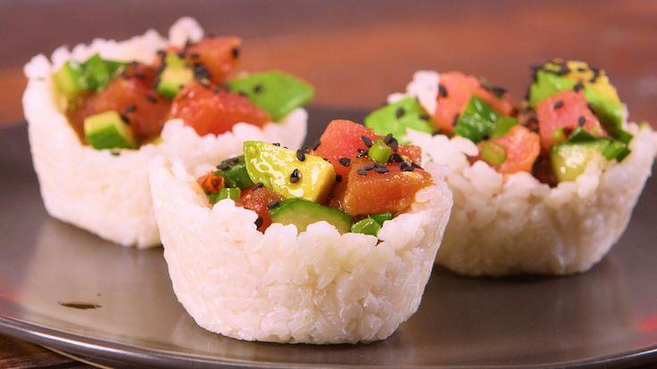 How to Make Ahi Sushi Cups